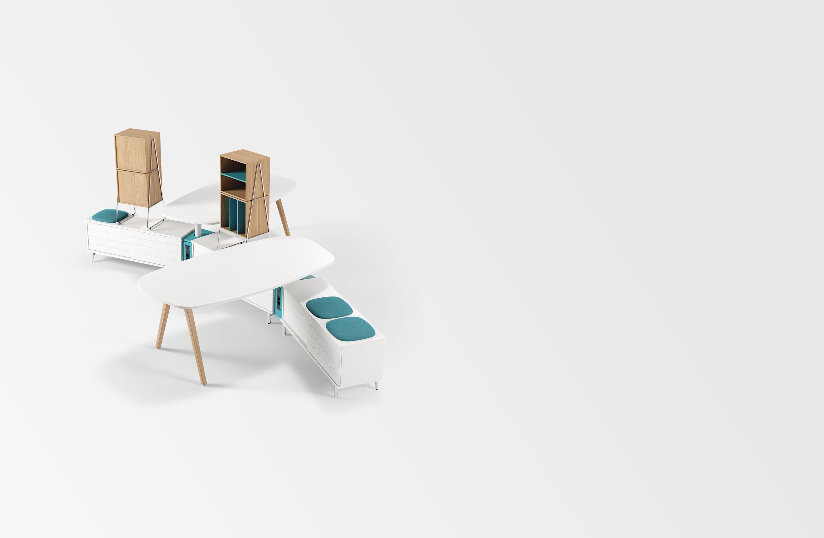 Space rangements mobilier de bureau kinnarps